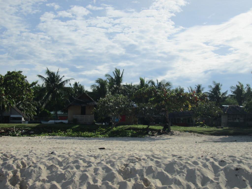 Unsere Unterkunft am Strand auf Pamilacan